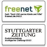 infactory Deluxe-Plüsch-Pantoffeln mit USB-Wärmesohle bis Gr. 39 - 3