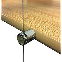BOSS apoyo de madera para colgar estante suspendido Cable Cuerda de alambre estantes caja soporte de sujeción