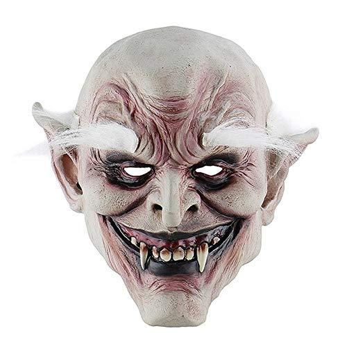 ANFLY Kostüm Trompete Maske White Brow Old Demon Halloween Horror Dämonen Maske Vampire Haunted House Evil Killer 1 (Demon Killer Kostüm)