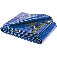takestop® - Lona de 3x 4m con ojales, impermeable, resistente, funda multiusos para coche, furgoneta, pickup, embarcación, tienda de campaña, etc.