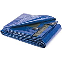 Takestop® – Lona 4x 5m con ojales, impermeable, resistente, funda multiusos para barca