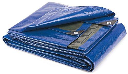 Takestop® telo telone 4x5m occhiellato impermeabile resistente copri tutto multiuso barca tenda campeggio vento