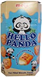 Meiji Hello Panda Fun Filled Biscuits Treats - Milk, 50g Pack