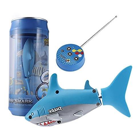 RC Shark Toy, YKS Mini RC Submarine 4 CH Remote