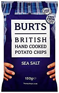 Burts Potato Chips Sea Salted 150 g (Pack of 10)