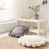 jgzwl Sitzkissen 1pcsnordic Style Round Shaped Pillow Sofa Cushion with Core Popular Cotton Knitted Sun Flower Decoration Seat Cushion