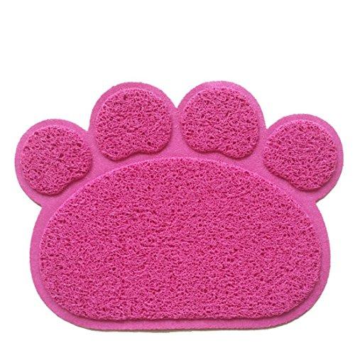 PVC Haustier Hund Futtermatte Schüssel Pad Pet Feed Tisch-Sets Puppy Bett Decke Rose Rot ()