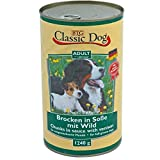 Classic Dog | Adult Brocken in Soße mit Wild | 6 x 1,24 kg