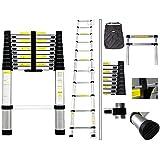 Todeco - Telescopic ladder, Échelle Pliable - Charge maximale: 150 kg - Standards/Certifications: EN131 - 3,2 mètre(s), Sac de transport OFFERT