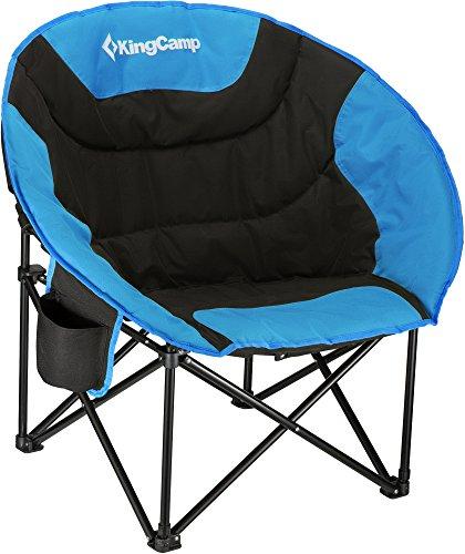 KingCamp Moon Chair Campingstuhl mit Rückentasche und Getränkehalter