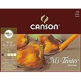 Canson Mi-Teintes - 1 bloc de papel, 32 x 41 cm, color tonos tierra