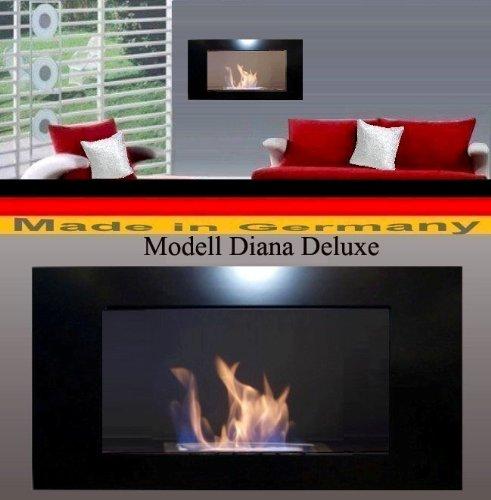 Cheminée Bio-Ethanol Modèle Diana Deluxe (Noir)