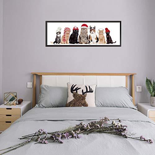 Wandaufkleber Schlafzimmer Nette Katze Team Gefälschte Foto Rahmen Aufkleber DIY Weihnachten Kinderzimmer Schlafzimmer Wohnzimmer Flur Home Decoration Abnehmbare Aufkleber (Fotos Diy Weihnachten)