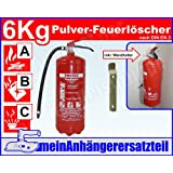 ABC Feuerlöscher 6kg Pulverlöscher 6 kg Dauerdrucklöscher