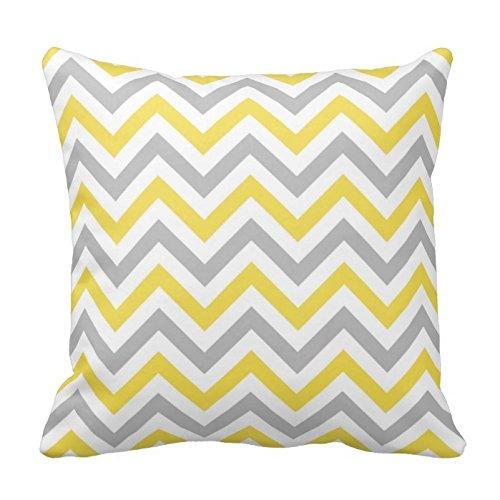 n Zigzag Pattern Design Dekorativer Überwurf-Kissenbezug Case Cover quadratisch 45,7x 45,7cm Zwei Seiten ()