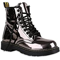 Stiefelparadies Unisex Damen Herren Stiefeletten Worker Boots Übergrößen Flandell