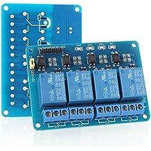 Neuftech® Tarjeta de expansión Módulo de relé de 4 Canales 5V Para arduino PIC AVR DSP