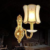 BBSLT Minimalista di giada muro rame lampada lampada da comodino soggiorno ingresso corridoio di illuminazione europea corridoio luci 150 * 340mm