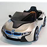 New 2015 Model Official Licensed BMW i8 Concept Twin Powered Rechargeable Electric Ride on Kids Car With Parental Remote Control(champagne))