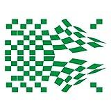 3014__DGRE Autoaufkleber Racing Flag Aufkleber ( Dark Green)