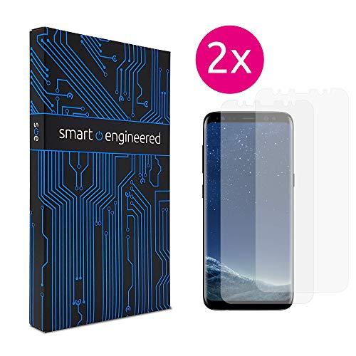 smart engineered Galaxy S8 Schutzfolie [2 Stück] Panzerfolie volle Abdeckung [HD-Klar] einfache blasenfreie Aufbringung [Displayschutzfolie transparent] KEIN Glas Schutzglas sondern s8 Folie