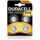 Duracell Specialty Typ 2016 Lithium Knopfbatterie, 4er Pack