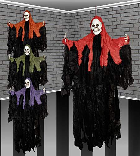 116.8cm Halloween Capucha Gótico Esqueleto Fantasma Colgante Decoración Fiesta