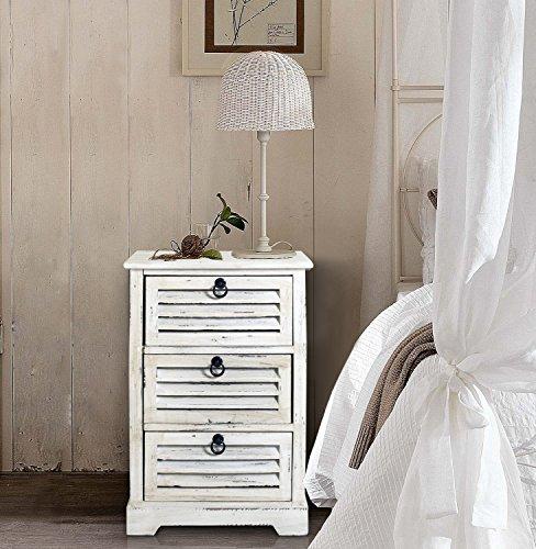 Rebecca srl cajonera comoda madera natural muebles 3 - Muebles blancos vintage ...