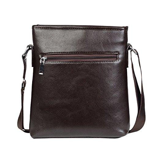 Yy.f Herrenmode Business-Tasche Herren Ledertasche Dünne Klassische Praktische Office-Tasche PU-Leder-Computer-Tasche Reisetasche. (Schwarz Und Braun) Brown