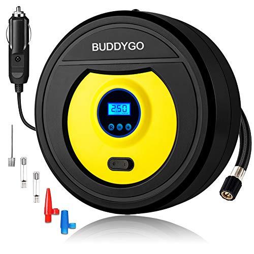 Canotti ECC. Mbuynow Compressore Portatile per Auto 150PSI Pressione Programmabile Gonfiatore Digitale con Luce LED per Gonfiare Le Gomme delle Moto e delle Auto Palloni