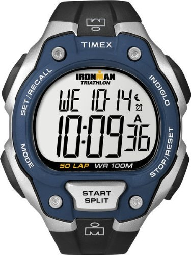 Timex Ironman T5K496 – Reloj de caballero de cuarzo, correa de caucho color negro
