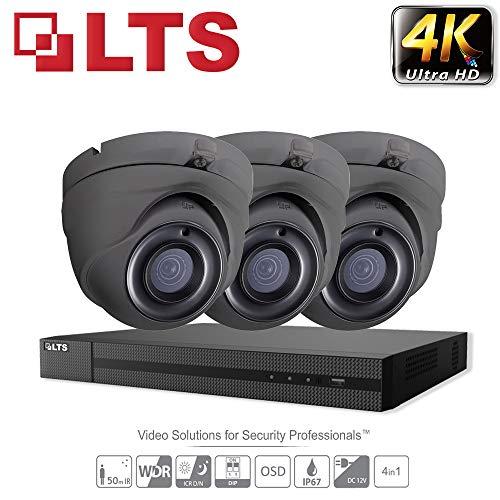 Hikvision iVMS-4500 Überwachungskamera-Set, 5 MP, Ultra HD, 4 K, 4 Kanäle, DVR, HD TVI H.265+ DVR bis zu 6 TB, 2,8 mm Dome, 3 x Kamera, für den Innen- und Außenbereich, 25 m Nachtsicht, IR-Kit - Lorex-security-kamera