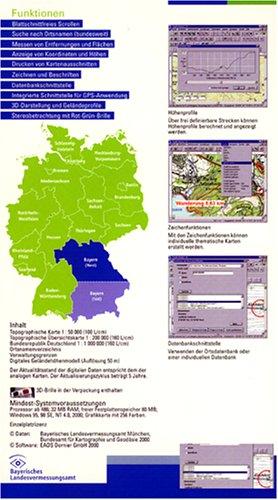 Top50 Bayern. Mit Digitalem Geländemodell. 3D-Darstellung: Nord - 2