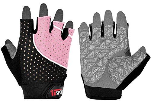 iiSPORT Fitness handschuhe Trainingshandschuhe damen und herren für Workout Gewichtheben Bodybuilding, Pink, Gr.S
