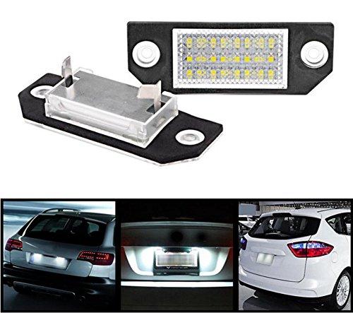 Xenon-streifen-lichter (Inlink LPL-2 2-Pack 24-SMD Kennzeichenbeleuchtung Kennzeichen Licht 6000K Xenon-Weiß Nummernschilder Lampe)