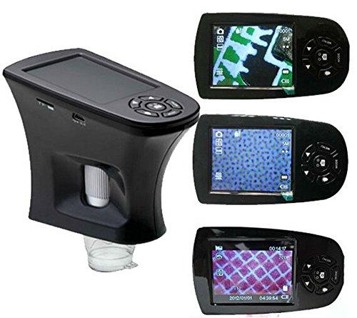 Srate Digitales Mikroskop-LCD-Bildschirm 20 x-200 Digital Mikroskop 8 LED beleuchtete USB Kamera und Video Mikroskop