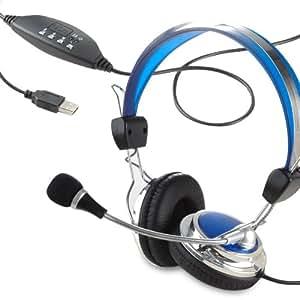 casque st r o avec micro ecouteur usb pour pc skype jeu prise jack usb informatique. Black Bedroom Furniture Sets. Home Design Ideas
