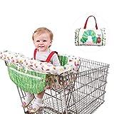 Waroomss Couverture de chariot 2 en 1, pad de jeu de coussin de coussin des enfants dinant la housse de coussin de chaise Pad portable sûr antibactérien pour le bébé