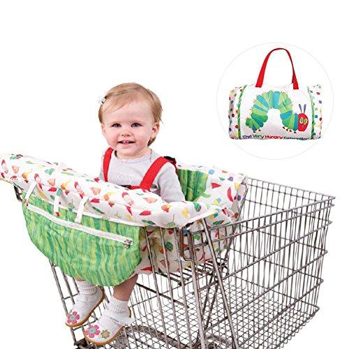Kitabetty Baby-Einkaufswagen-Abdeckungs-Hochstuhl-Abdeckung, Supermarkt-Trolley, der Stuhl-Schutz antibakterielle Sicherheits-Reise bewegliche Mat- Maschinenwaschbar für Jungen oder Mädchen speist