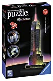 Ravensburger 12566 1- Empire State Building bei Nacht - Night Edition 3D Puzzle Bauwerke, 216 Teile