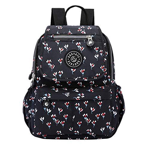 friendGG❤Damen Frauen wasserdichte große Kapazität Rucksack Schüler Schulter Reisetaschen Mode Freizeit, Bankett, Reisen, Einkaufen