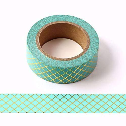 Green & Gold Folie Streifen Dekorative Washi Tape - Regency Bürobedarf