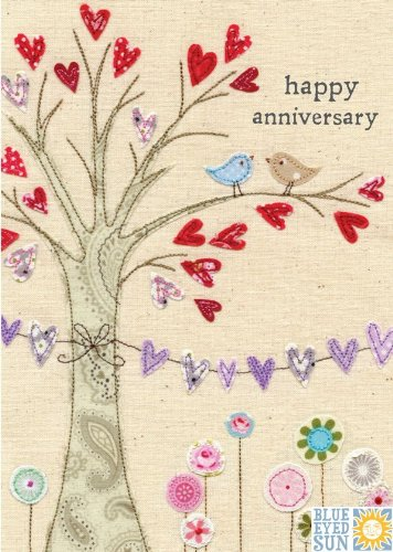 anniversary-card-bes0240-love-tree-hand-finished-with-jewels