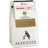 AROMISTICO | Finest Smooth Aroma Medium Roast | Premium Italian GROUND COFFEE | ROMA BLEND | For Cafetiere / French Press, Filter, Pour Over, Drip, Chemex, Moka Pot or Aeropress | MELLOW, SHARP and NUT-Like