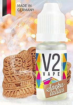 V2 Vape E-Liquid Spekulatius ohne Nikotin - Luxury Liquid für E-Zigarette und E-Shisha Made in Germany aus natürlichen Zutaten 0mg nikotinfrei - verschiedene Größen von V2-Vape