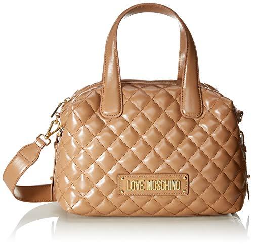 Love Moschino Unisex-Erwachsene Jc4005pp18la0201 Bowling-Tasche, Beige (Cammello), 19x12x28 Centimeters