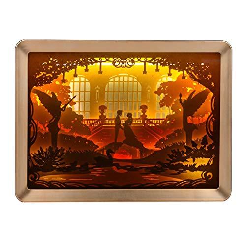 Foto-Rahmen-Papier-Ausschnitt Lampe D