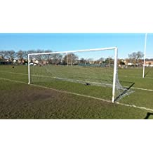 FastFootyNet Football net with FREE Carry Bag. Full Size - 24' x 8' Match standard. Includes 12 elasticated post ties.
