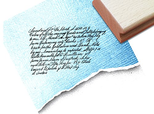 Stempel - Textstempel VINTAGE ÉCRITURE VII mit alter Handschrift - Eleganter Schriftstempel für Ihr eigenes Design im Shabby chic style - Typostempel von zAcheR-fineT (Shabby Chic Scrapbook-papier)