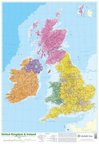 Map of UK and Ireland por Schofield & Sims Ltd